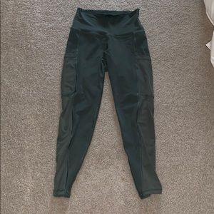 Aerie sage green ankle mesh pocket workout legging